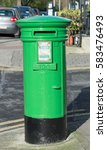 vintage post box in ireland | Shutterstock . vector #583476493