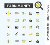earn money icons | Shutterstock .eps vector #583476733