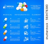 medical pill infographic with... | Shutterstock .eps vector #583478380