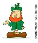 smiling leprechaun vector... | Shutterstock .eps vector #583480708