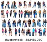 "collection "" back view of young ... 