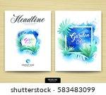 cover annual report garden... | Shutterstock .eps vector #583483099