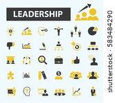 leadership icons  | Shutterstock .eps vector #583484290