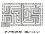 large vector horizontal maze... | Shutterstock .eps vector #583485724