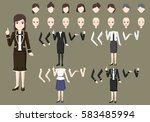 business female character... | Shutterstock .eps vector #583485994