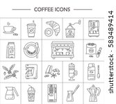 Outline Web Icon Set . Element...