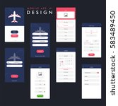 travel mobile app ui  ux design ... | Shutterstock .eps vector #583489450