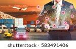 business logistics concept ... | Shutterstock . vector #583491406