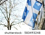 Quebec Flag In Montreal...