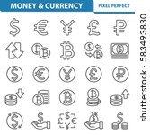 money   currency icons.... | Shutterstock .eps vector #583493830