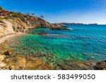 beautiful seascape scenery at... | Shutterstock . vector #583499050