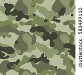 green military seamless pattern.... | Shutterstock .eps vector #583499110