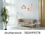interior living room with a... | Shutterstock . vector #583499578