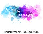 watercolor imitation background ... | Shutterstock .eps vector #583500736