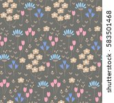 seamless pattern with cute... | Shutterstock .eps vector #583501468