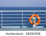 Red Lifebuoy In Front Of The...