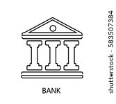 bank line icon | Shutterstock .eps vector #583507384