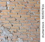 new brick wall and background | Shutterstock . vector #583507816