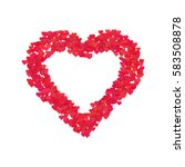 valentines composition of the... | Shutterstock .eps vector #583508878