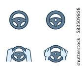 steering wheel vector flat... | Shutterstock .eps vector #583509838