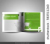 bi fold square business or... | Shutterstock .eps vector #583511260