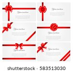 set of 6 beautiful cards with... | Shutterstock .eps vector #583513030