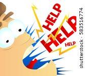 illustration of a funny cartoon ... | Shutterstock .eps vector #583516774