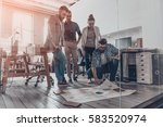 planning business together.... | Shutterstock . vector #583520974