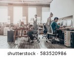 office work.  group of business ... | Shutterstock . vector #583520986