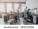 office work.  group of business ... | Shutterstock . vector #583520986