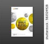 brochure cover design template... | Shutterstock .eps vector #583524928