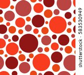 color red circle. chaotic... | Shutterstock .eps vector #583530949