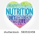 nutrition heart word cloud ... | Shutterstock . vector #583532458