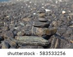 colorful pebbles at koh hin... | Shutterstock . vector #583533256