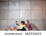 multi ethnic coworkers dressed... | Shutterstock . vector #583533424