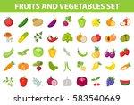 fresh fruit and vegetable icon... | Shutterstock .eps vector #583540669