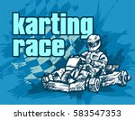 karting race | Shutterstock .eps vector #583547353