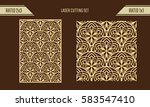 diy laser cutting set. woodcut... | Shutterstock .eps vector #583547410