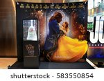 Small photo of Bangkok, Thailand - 18 February, 2017: Beautiful Standee of Beauty and the Beast at the theater