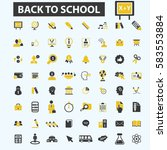 back to school icons | Shutterstock .eps vector #583553884