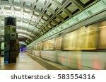 Subway Train Leaving A Deserte...