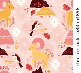 vector seamless pattern with... | Shutterstock .eps vector #583554898
