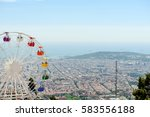 barcelona panoramic view from... | Shutterstock . vector #583556188