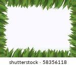green grass frame | Shutterstock . vector #58356118