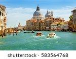 grand canal and basilica santa... | Shutterstock . vector #583564768