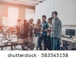 team brainstorming.  group of... | Shutterstock . vector #583565158