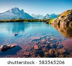 colorful summer view of lac... | Shutterstock . vector #583565206
