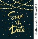 wedding invitation card... | Shutterstock .eps vector #583567054