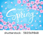 Hello Spring Background With...