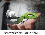 green circular economy concept. ...   Shutterstock . vector #583572610